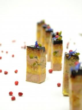 Plateau de 10 brochettes de foie gras