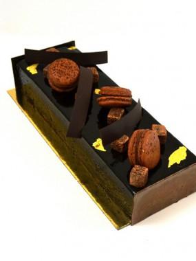 Bûche chocolat Tonka 4/6 parts